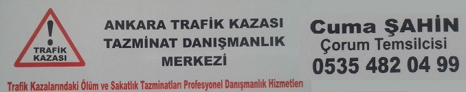 Ankara Trafik Kazası Tazminat DAnışmanlık Merkezi